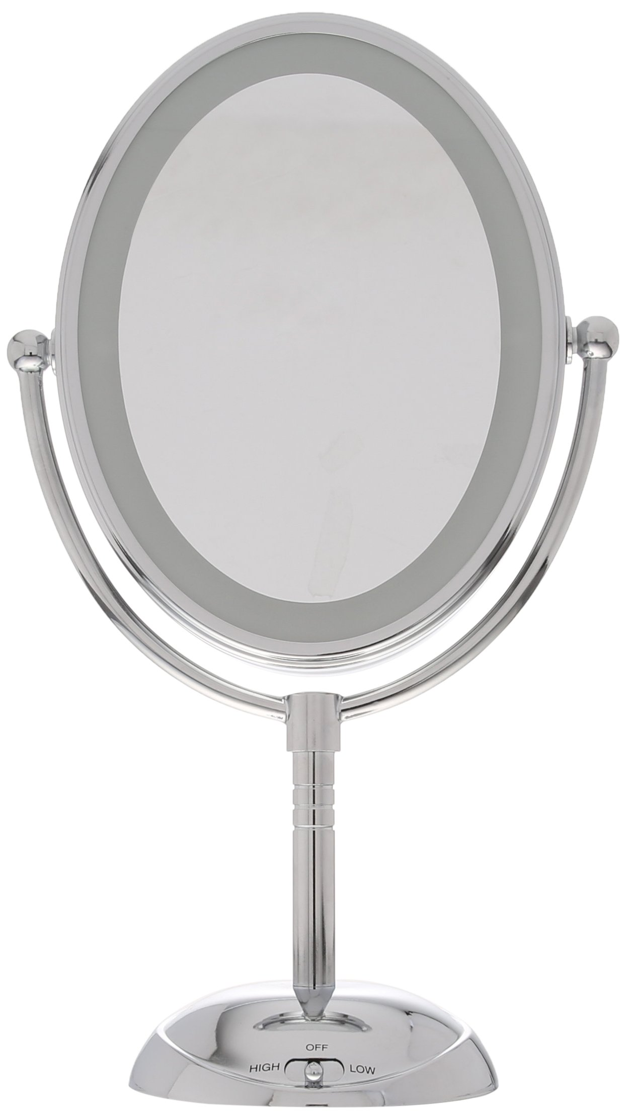 Conair Oval Shaped LED Double-Sided Lighted Makeup Mirror; 1x/7x magnification; Polished Chrome Finish by Conair (Image #3)