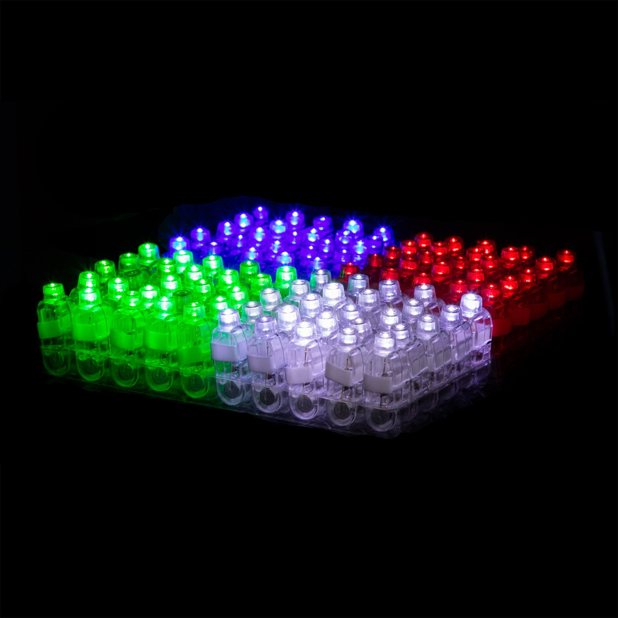 Fingertop LED Party Favors for Kids – 100 LED Ring Light Party Favors for Adults Boys + Girls Glow in The Dark Party Favor LED Finger Lights Novelties