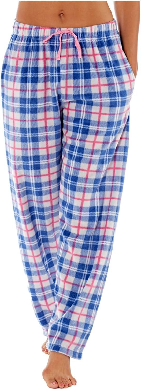 Mujer Selena Secrets Pantalones de andar por casa suave de cuadros Polar Pantalón De Pijama