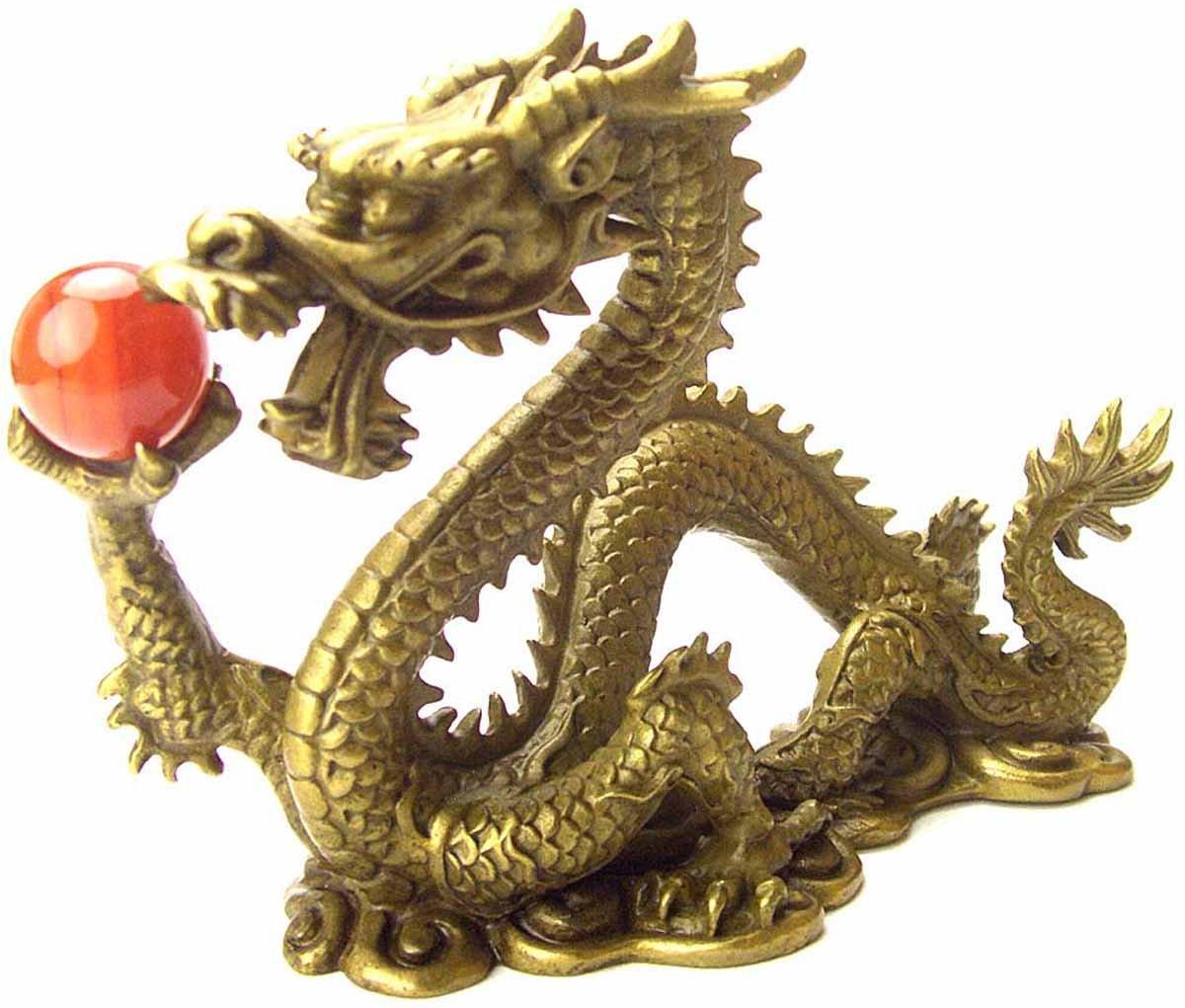 風水の皇帝龍五本指の願い龍(銅製) レッドメノウ付き 夫婦仲子宝 B002KAP7XS
