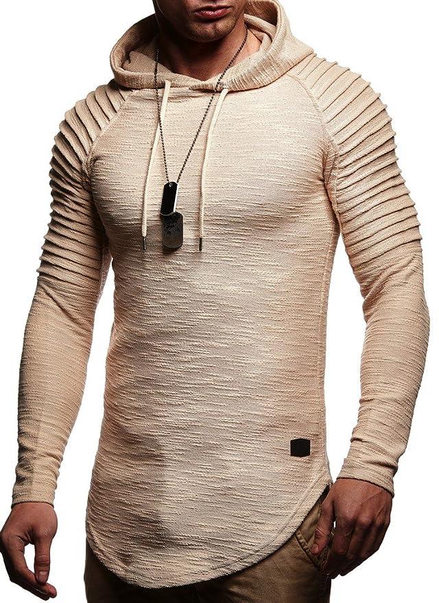 Leif Nelson Ln8128 Men's Oversized Hoodie Sweatshirt by Leif+Nelson