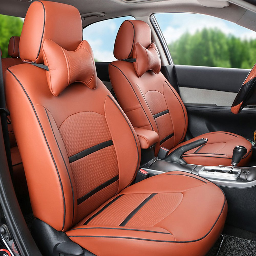 2pcs orange Cover for Toyota Prius C Avalon Camry Corolla RAV4 Venz 2017 Tacoma