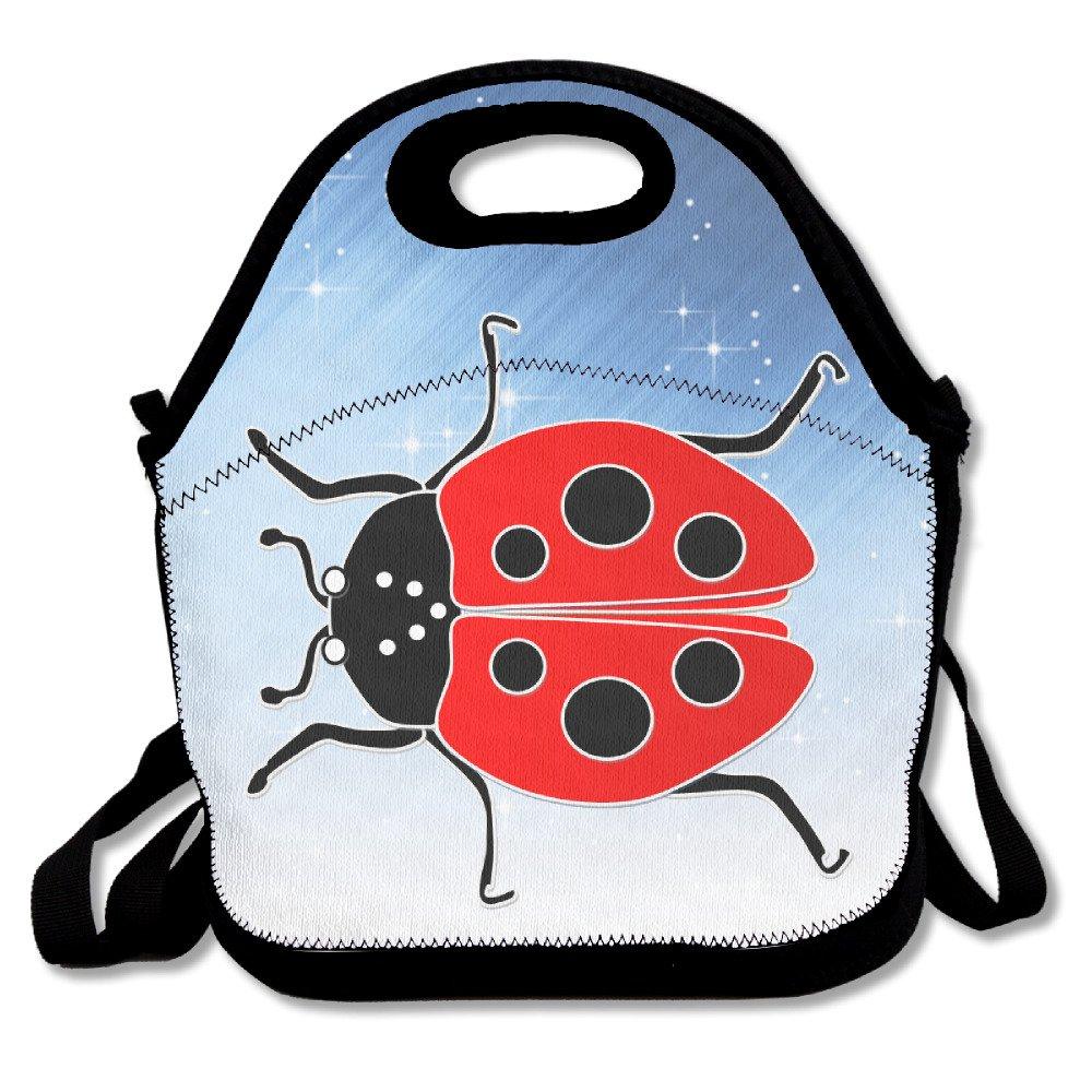 Amazon.com: xiisxin rojo catarina bolsa de almuerzo – grande ...