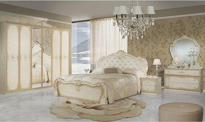 LIGNEMEUBLE Tatum laccato avorio camera da letto barocco ...