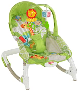 Fisher Price Newborn To Toddler Portable Rocker Green Safari