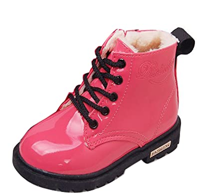 29e0cdac6 Gaorui Baby Toddler Girls Kids Boys Ankle Biker Martin Boots Warm Fur Lined  Boots Candy Color