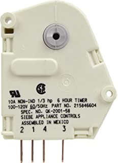 amazon com frigidaire 216744500 defrost timer for refrigerator frigidaire 215846604 defrost timer