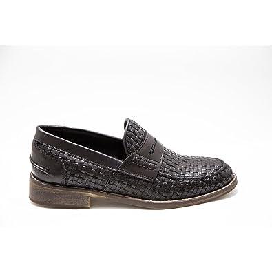 Mocassino Donna Testa di Moro Scarpe Pelle Artigianali Marroni Calzature  Italiane Woman Shoes Leather Loafers Brown Made in Italy 9cdd499e080