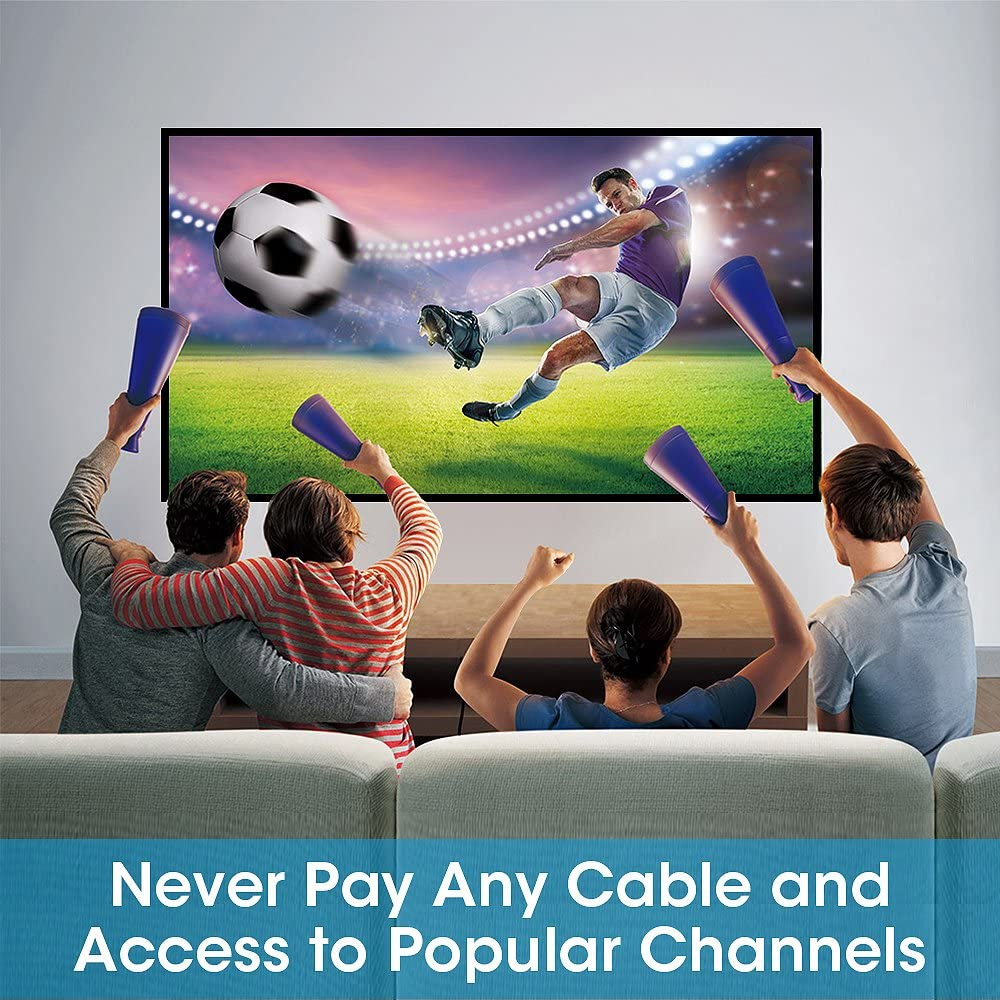 TV Antenna Vansky Digital Amplified HDTV Antenna 65-80 Mile VHF//UHF Freeview TV Local Channels Support 4K 1080p /& All Older TVs