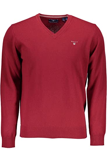 2a4c464351e335 Gant Men's Superfine Lambswool V-Neck Jumper: Amazon.co.uk: Clothing