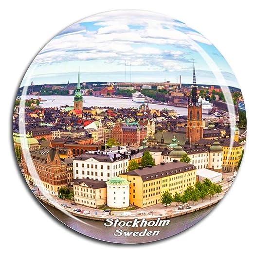 Weekino Ciudad Vieja de Estocolmo Suecia Imán de Nevera Cristal 3D ...