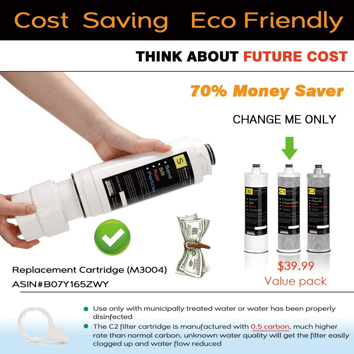 Frizzlife SK99 3-Stage Under Sink Water Filter eco friendly