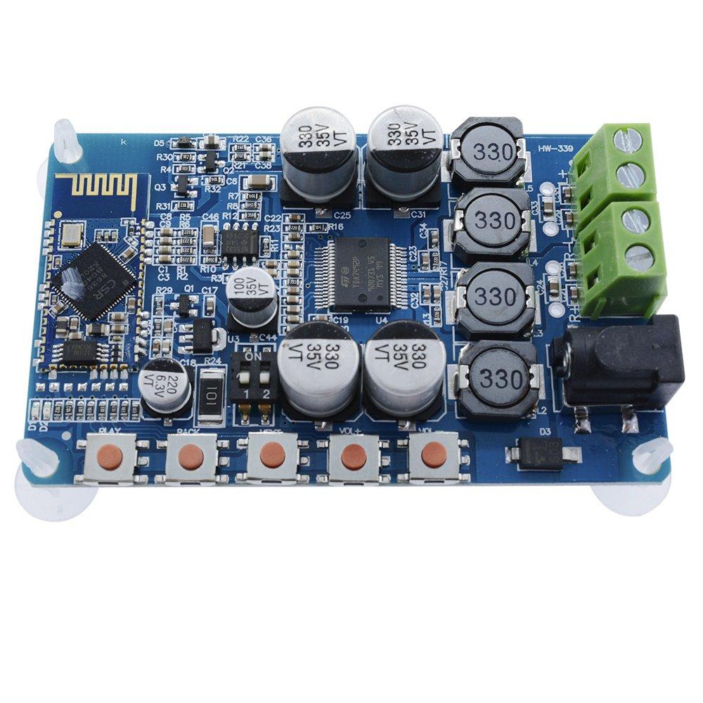 Aideepen 50w Tda7492p 2x50 Watt Dual Channel Tda7492 Digital Power Audio Amplifier Circuit Board Blue Silver Wireless Bluetooth 40 Receiver Home
