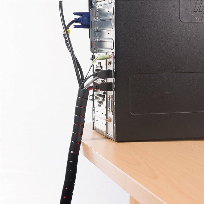D Line Cz252 5b Flexibler Kabelkanal Für Den Schreibtisch Optimale Kabelordnung Mit Dem Kabelschutzschlauch Länge 2 5 M Durchmesser 25 Mm Schwarz Baumarkt