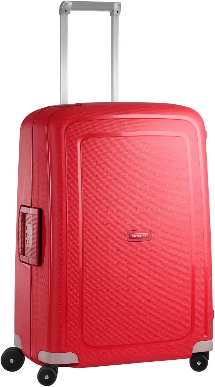 Samsonite S'Cure Spinner M Maleta, 69 cm, 79 L, Rojo (Crimson Red)