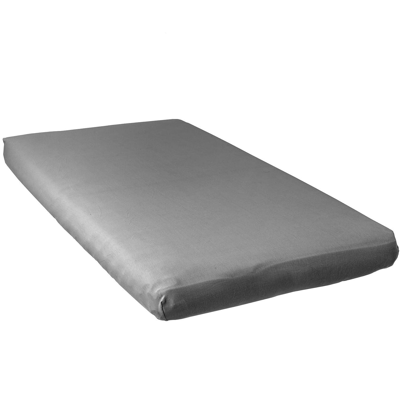 color blanco y gris Babycalin S/ábanas bajeras 2 unidades, 70 x 140 cm