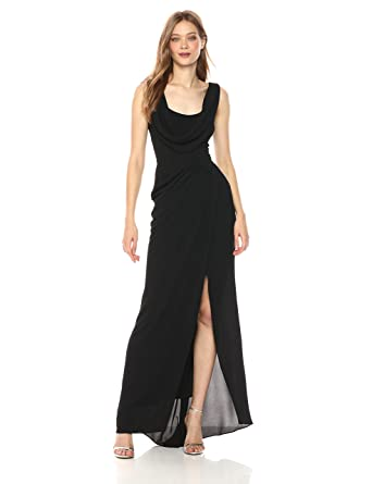 81181f9374580 Betsy & Adam Women's Long Cowl Neck Dress at Amazon Women's Clothing store: