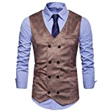 NUWFOR Men's Fashion Business Casual Gold