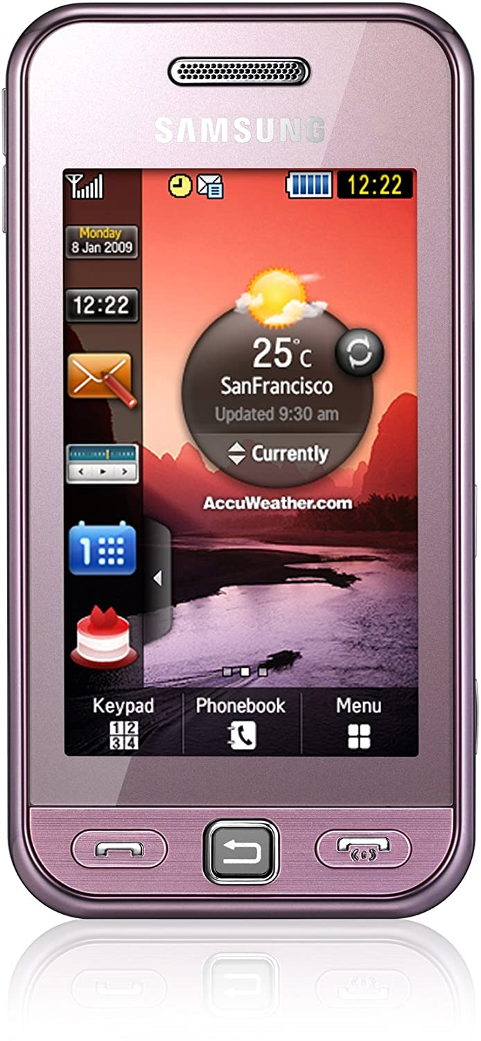 Amazon.com: Samsung S5230 Tocco Lite Unlocked Phone with Quad-Band GSM, 3  MP Camera MP3/Video Player, and MicroSD Slot--International Version with  Warranty ...