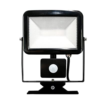 Electraline 63513 Faro Slim IP44 Foco Exterior LED con Sensor de Movimiento, 20 W,