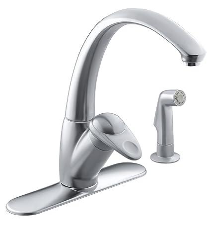 KOHLER K-6356-VS Avatar Single Control Kitchen Sink Faucet, Vibrant ...