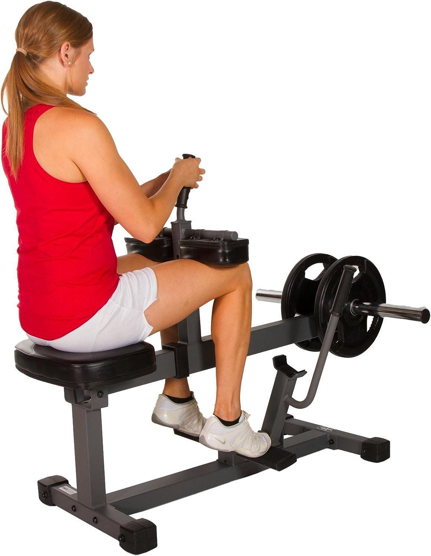 Amazon.com: xmark sentado ternero elevar máquina xm-7613 (Gris o Blanco), negro: Sports & Outdoors