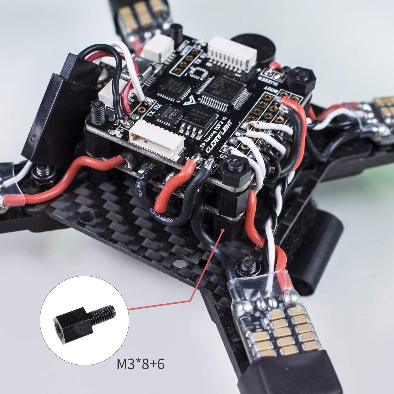 SunFounder Kit 210PCS M3 M2.5 Nylon Hex Entretoise Vis /Écrous Entretoises pour Bricolage Avions Arduino Raspberry Pi FPV RC Drone PC Mods Assortiment Noir
