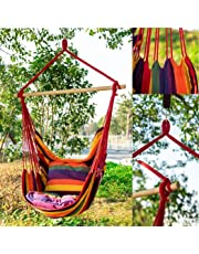 oenkeise Hammock Chair Cotton Canvas Swing Chair Garden Indoor Outdoor Hanging Chair Load Capacity 150kg