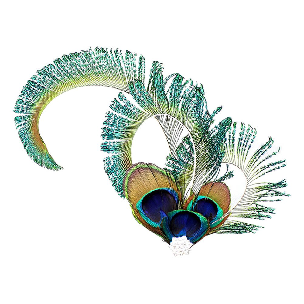 Song Peacock Feather Bridal Hairdress Fascinators Hair Clip Wedding Races Headpieces