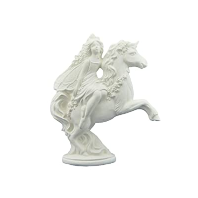 Ceramics In Montana Fairy on Unicorn (Gare Spring Fairy) - Perfect for Fairy Garden - Ready to Paint (Unpainted) Ceramic Bisque Handcrafted in The USA : Garden & Outdoor