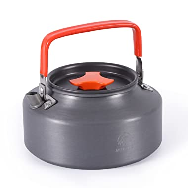 REDCAMP 1.1L/1.6L Outdoor Camping Kettle, Aluminum Water Pot with Carrying Bag, Compact Lightweight Tea Kettle, FDA Approved