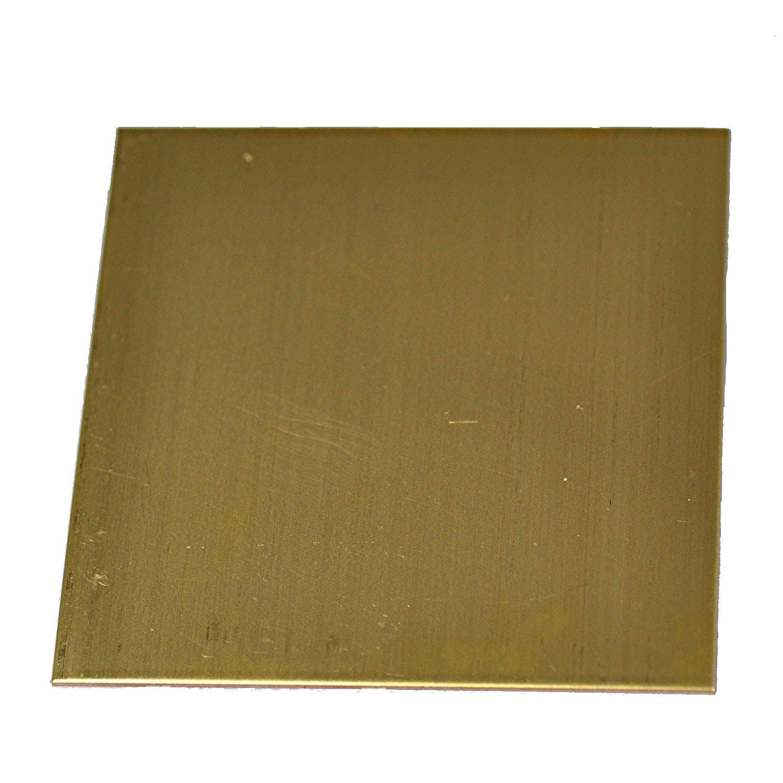 RMP 260 Brass Sheet, 12 Inch x 12 Inch x 0.020 Inch Thickness
