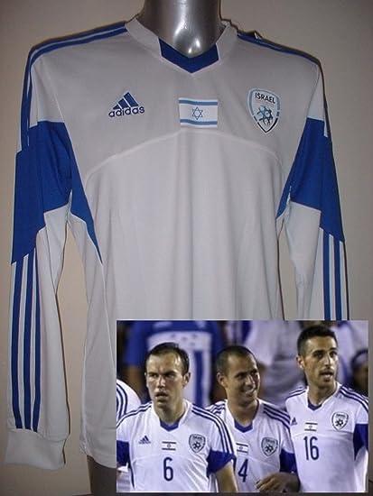 Adidas Israel Adulto Grande Manga Larga Camiseta Jersey fútbol Camiseta de Maglia