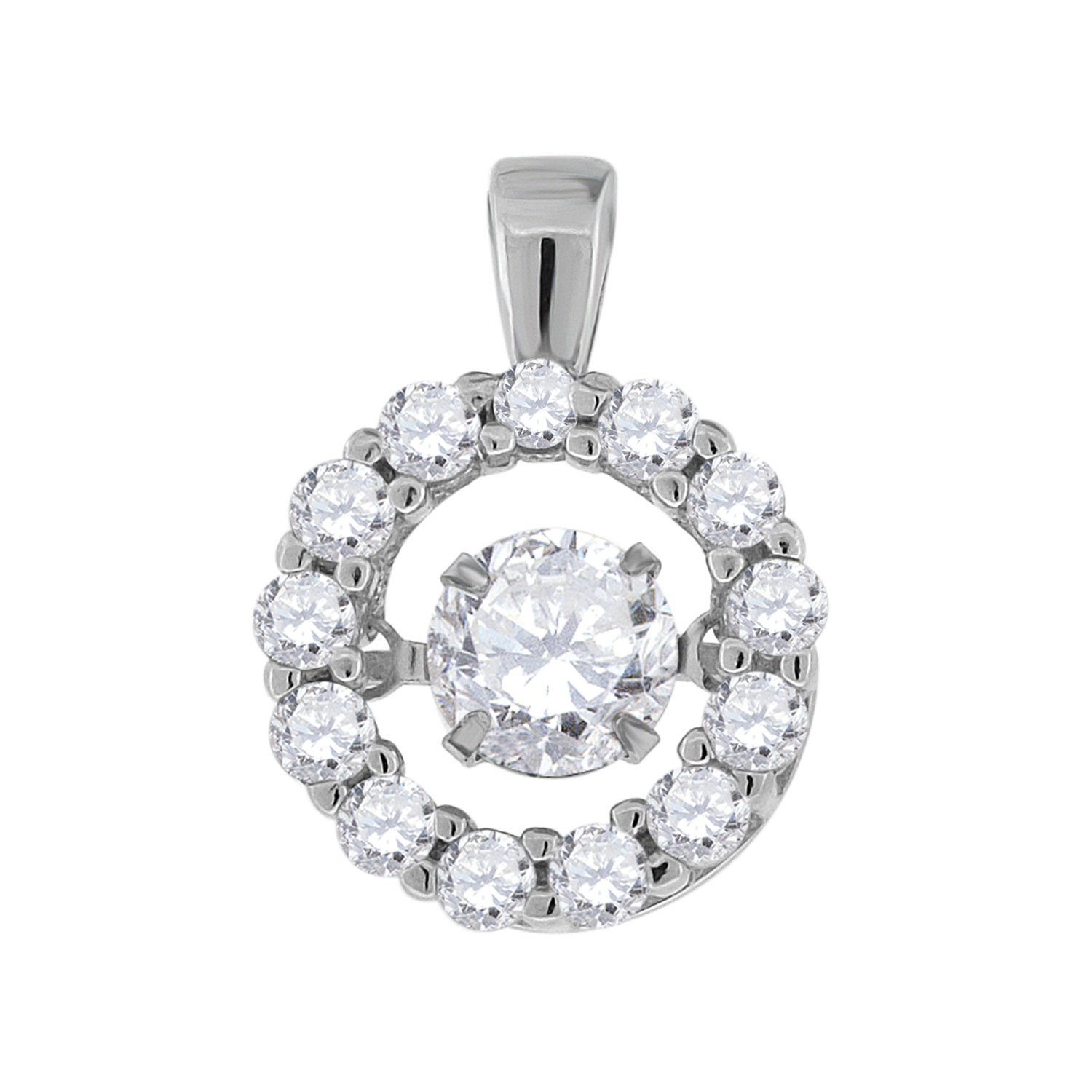 Jewels By Lux Sterling Silver Mens Cubic Zirconia CZ Round Stud Earrings Set With The Highest Quality Cubic Zirconia.
