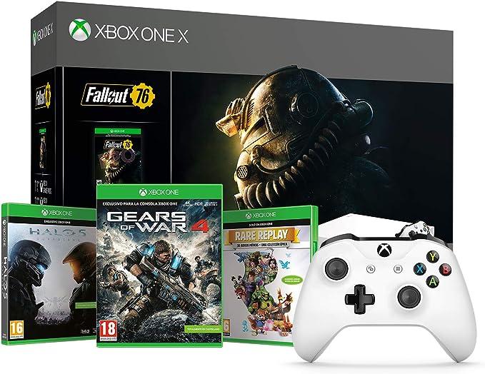 Xbox One X - Consola 1 TB, Color Blanco + Fallout + Microsoft - Xbox Wireless Controller Gamepad, Blanco (PC, Xbox One S): Amazon.es: Videojuegos