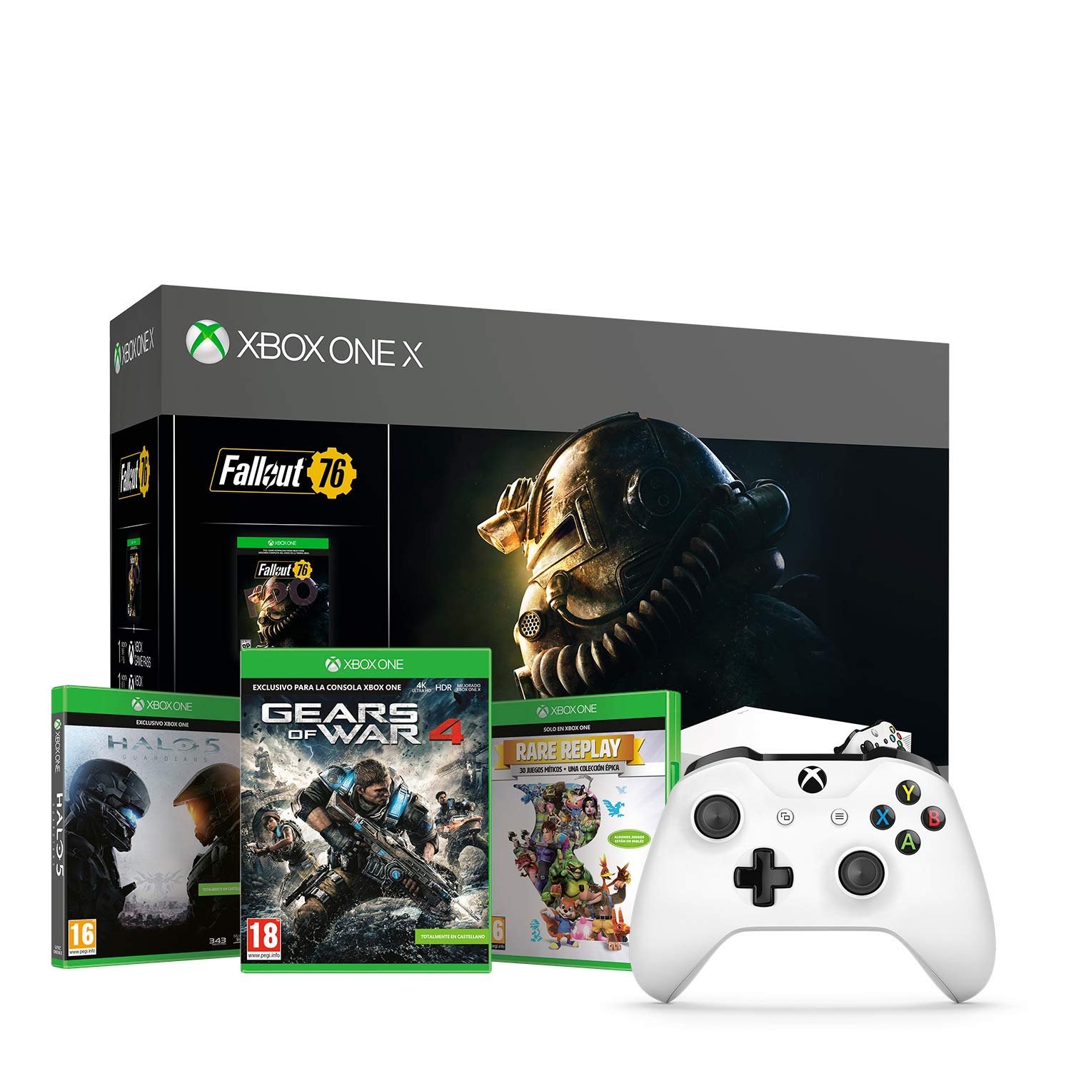 Xbox One X - Consola 1 TB, Color Blanco + Fallout + Microsoft - Xbox Wireless Controller Gamepad, Blanco (PC, Xbox One S): Amazon.es: Videojuegos