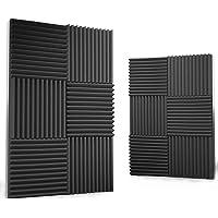 12 Pack Acoustic Panels,FLOURS Acoustic Foam Panels,Sound Proof Studio Foam Sound Dampening Noise Sound Deadening Foam…