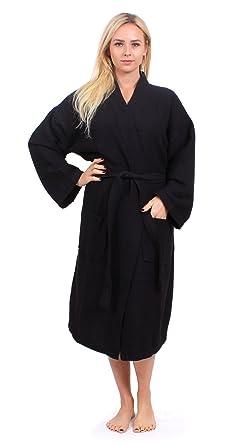 bfd6d88dd7 Turkuoise Unisex Plus Size Long Waffle Robe