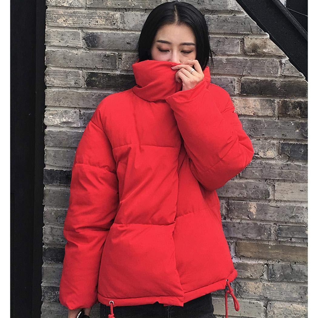 Timesok Manteau d'hiver décontracté pour Femmes Blousons Rouge