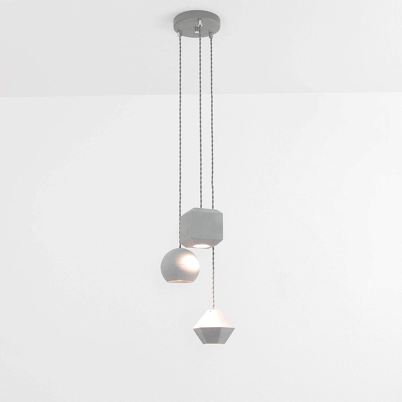 Minimalistische Hängelampe geometrische Formen 3-flmg GU10 Moderne Pendelleuchte Esstisch Wohnzimmer