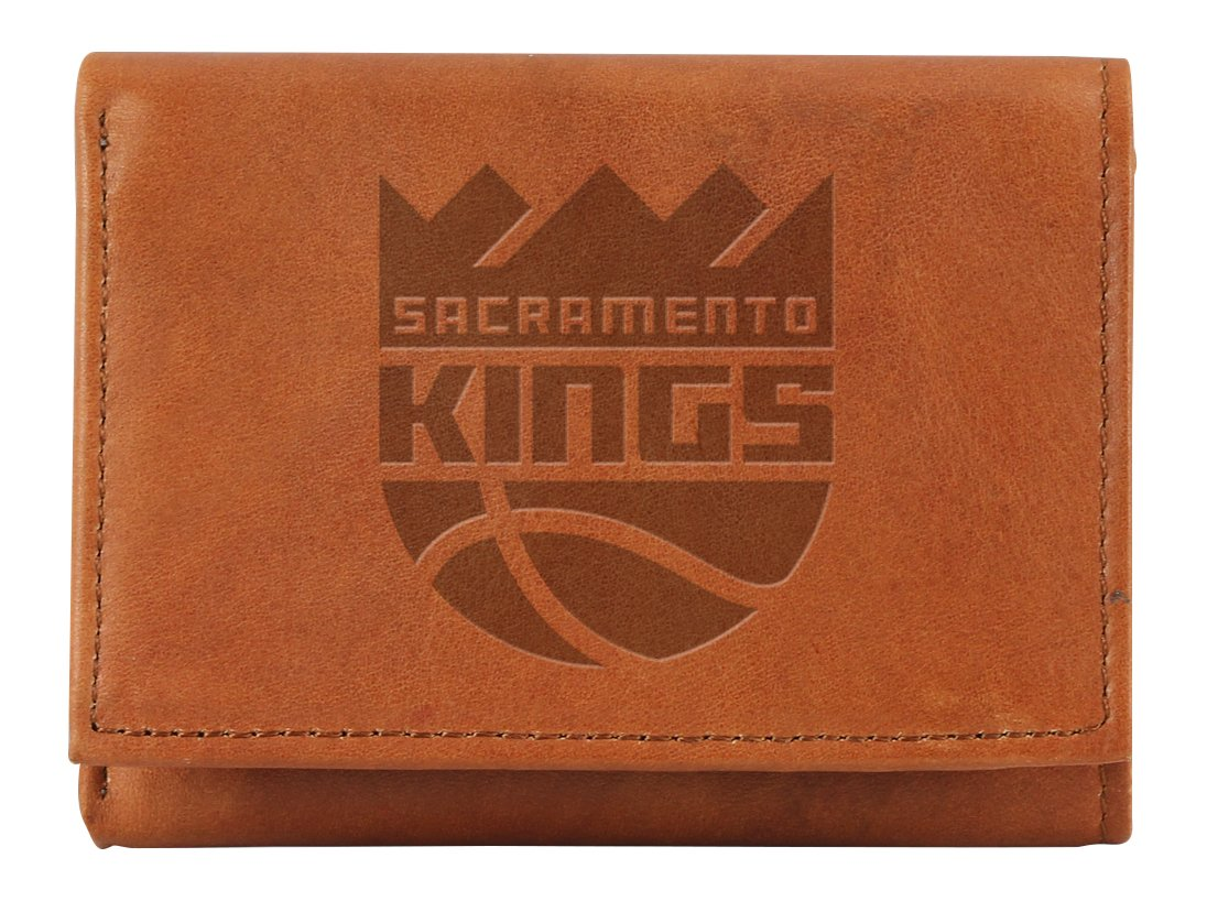 NBA Sacramento Kings Embossed Genuine Leather Trifold Wallet