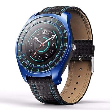 WMWMY Reloj Inteligente Monitor De Ritmo Cardíaco Tarjeta Sim Bluetooth Podómetro con Cámara Sports Watch para