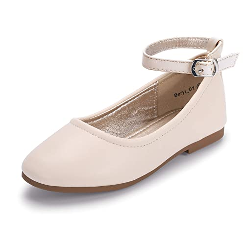 9341c8985ff79 Hehainom Toddler/Little Kid Girl's Ballet Dress Flats Ankle Strap School  Uniform Shoes