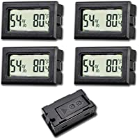 4-Pack Recessed Digital Electronic Hygrometer Meter,Temperature and Humidity Gauge Indoor LCD Display Fahrenheit for…