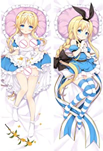 Home Goodnight Alice Zuberg Sword Art Online Anime Body Pillowcase Japanese Textile & Smooth Knit(150cm x 50cm)