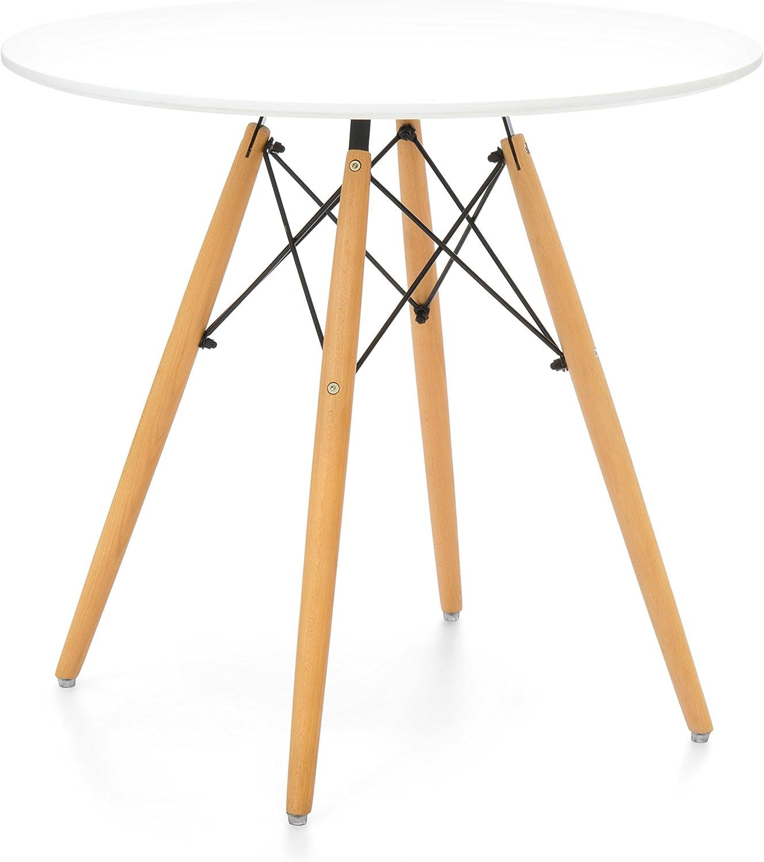 Noorsk Design Mesa de Comedor o Cocina Karelia2 (80 cm.): Amazon ...