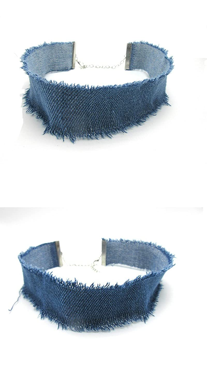 collier femme en jean