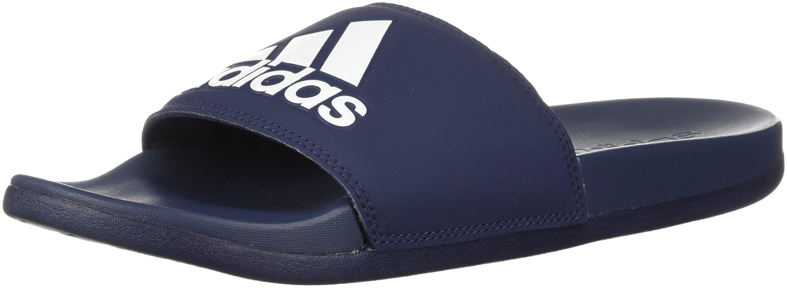 adidas Men's Adilette CF+ Logo Slide Sandal, Collegiate Navy/Collegiate Navy/White, 18 M US by adidas