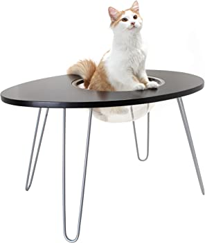 Hauspanther NestEgg Raised Cat Bed & Side Table