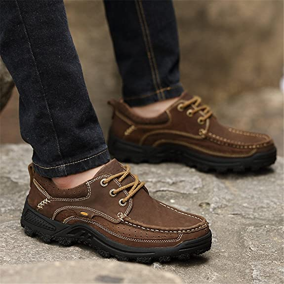 Ruiatoo Men's Classic Lace up Anti-slip Outdoor Hiking Boat Shoes:  Amazon.co.uk: Shoes & Bags